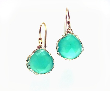 Green Onyx Earrings