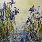 Wild irises For Me_23 12x12 $325