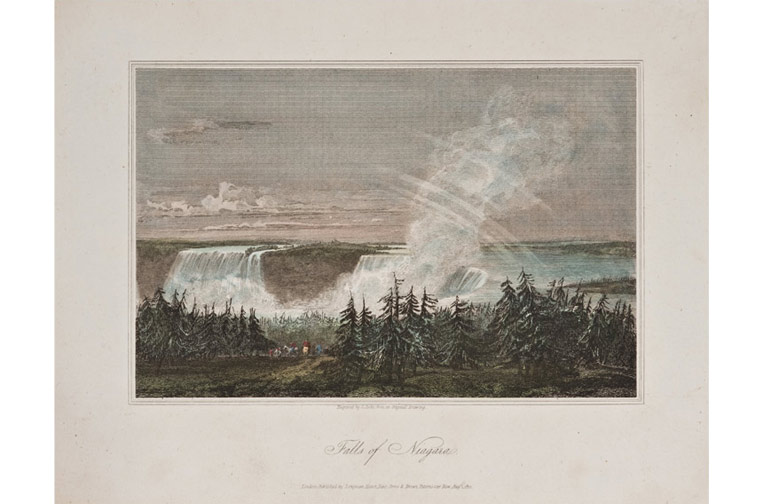 Falls of Niagara, unknown artist, engraver Cooke