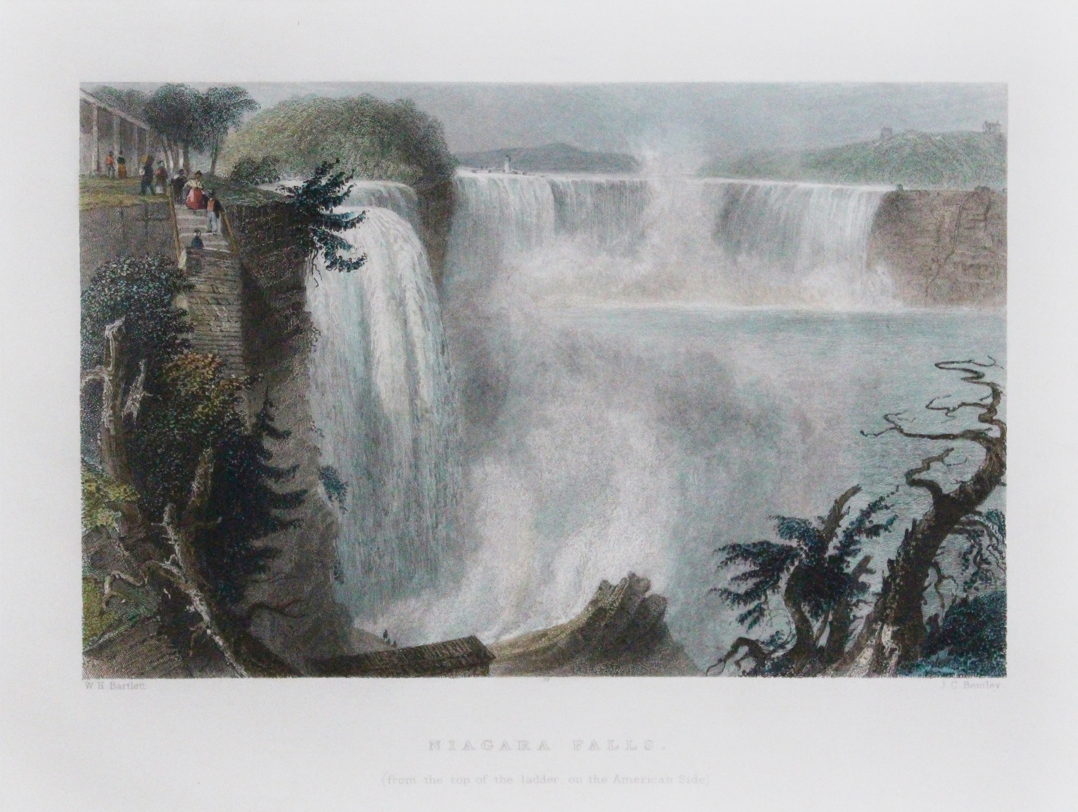 Niagara Falls (from top of ladder on U.S. side) (1839)