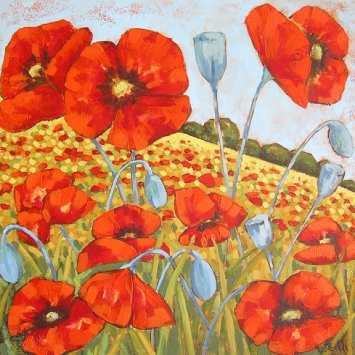 Poppies 3  (SOLD)