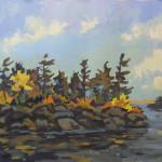 1_wilson_autumn island muskoka_waterecolour 12x12 700