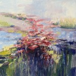 8woolven_water lily2_oil 18x18 475