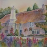3sneath_english Cottage Garden_watercolour 14x16 400