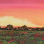 6sneath_Morning Poppy Field_acrylic 18x36 800